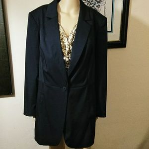 DANA Buchman, Long Black Blazer